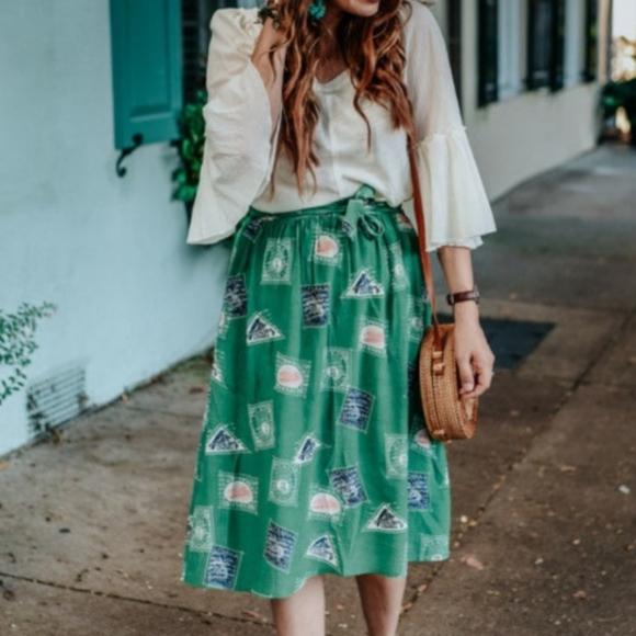 Anthropologie Dresses & Skirts - NWT ANTHROPOLOGIE Porridge Getaway midi skirt XS